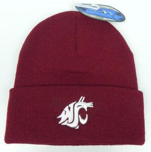 WASHINGTON-ST-COUGARS-CRIMSON-NCAA-BEANIE-TOP-OF-THE-WORLD-KNIT-CAP-HAT-NWT