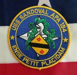 USS Sandoval APA 194 attack transport ship USN Military Navy Patch