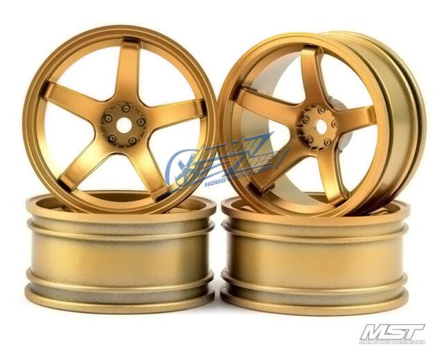 MST Gold 5 spokes wheel offset 8 (4 PCS) 102019GD New