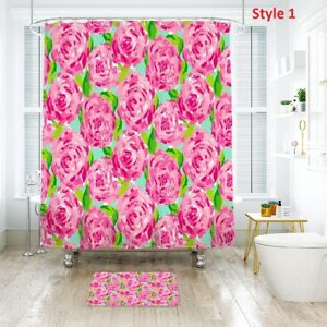 Good!BettyBoop Design Shower Curtain /& Bath Mat With Polyester Fabric Waterproof