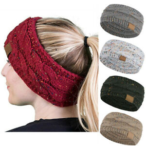 14220a3c Image is loading Women-Winter-Warm-Beanie-Headband-Skiing-Knitted-Cap-