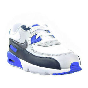 34b4b7fcac5 Nike Air Max 90 Leather Infant   toddler Shoes Obsidian grey blue ...