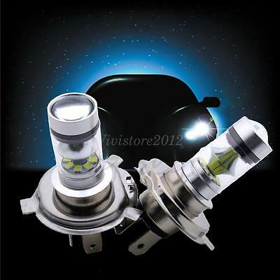 AU 2x 6000K H4 100W CREE LED Projector Bulbs Working Fog Daytime Lamps 12V-24V