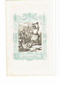 1853 Grabado, San Crisanto y Santa Daria Martires
