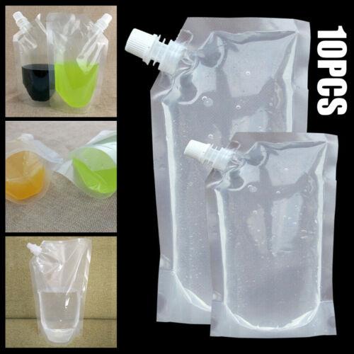 10 x Trinkflasche faltbar Trinkbeutel Karabinerhaken Wasserflasche Sport Camping