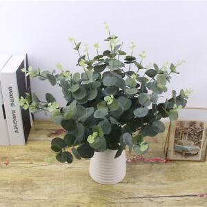 Nice-Artificial-Fake-Silk-Flower-Eucalyptus-Plant-Green-Leaves-Hotel-Home-Decor