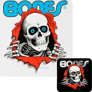 POWELL-PERALTA-BONES-Ripper-Skateboard-Aufkleber-Klar-Oder-Schwarz