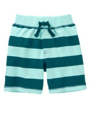 GYMBOREE JUNGLE EXPLORER BLUE STRIPE RIB KNIT SHORTS 3 6 12 18 24 2T 3T 4T 5T