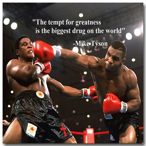 Mike Tyson Super Boxer Motivational Quotes Silk Poster 13x20 24x36inch