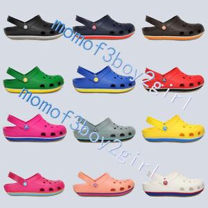 d1cb851a676 Unisexe Croc Retro Clogs Plage Sabots pantoufles Chaussures Sandales ...