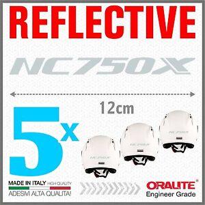 5x-Rifrangenti-ADESIVI-Grigio-Bianco-compatibile-NC-750-S-HONDA-NC750