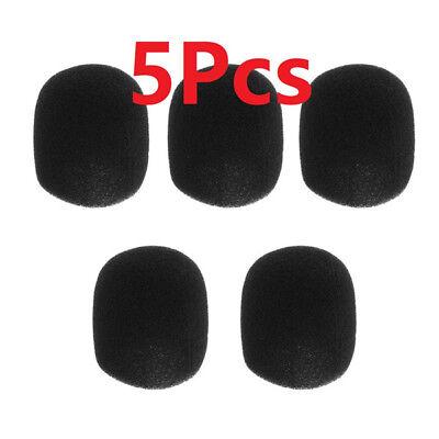 x5 microphone windscreen karaoke wind shield pop filter mic cover foam black ebay. Black Bedroom Furniture Sets. Home Design Ideas