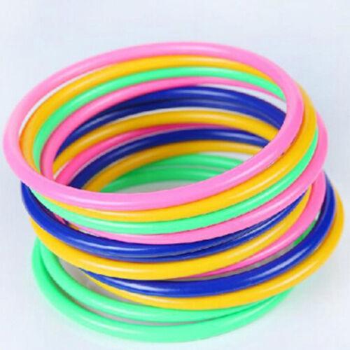 5Pcs 14.5CM Hoop Ring Toss Cast Circle Sets Educational Toy Kids Puzzle GameHC
