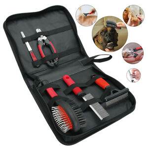 Pet-Dog-Cat-Grooming-Scissors-Fur-Clippers-Comb-Kit-Professional-Tool-Set