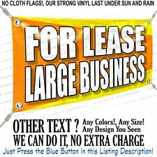 For Lease Large Business Custom Vinyl Banner Personalized Outdoors Sign