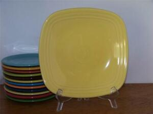 Fiesta-SUNFLOWER-9-034-Square-Luncheon-Plate-1st-Quality