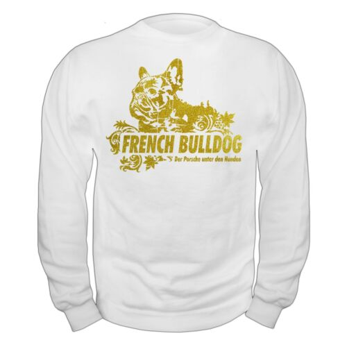 Pullover Sweatshirt French Bulldog GOLD Französische Bulldogge Hunde Bully Rasse