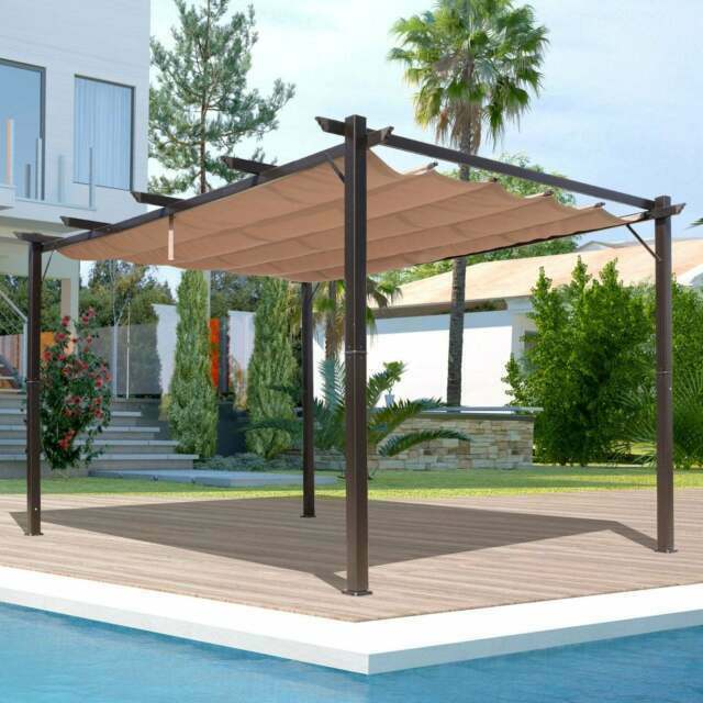 Outsunny 10 Ft X 13 Steel Outdoor, Outdoor Canopy Gazebo