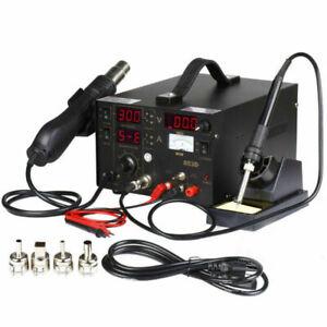 3in1-853D-1A-DC-Power-Supply-SMD-BGA-Soldering-Rework-Station-Hot-Air-Gun-110V