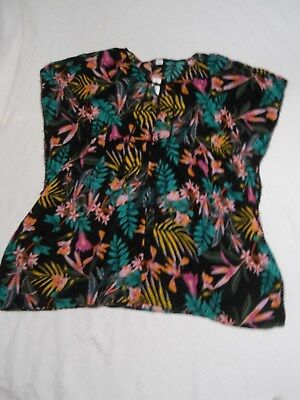 Old Navy Women S Cover Up Dress Size Small Black Floral