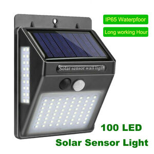 40 LED Solar Panel Light Motion Sensor Outdoor Bright Security Wall Lamp IP65 UK