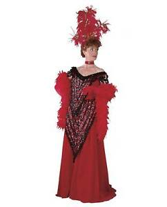 Womens-Hello-Dolly-Levi-Dress-Costume-Dress-Red-Flapper-RENTAL-QUALITY-Large