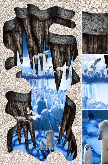 3D Cliff Lane Lane Lane Eisbär 43366 Fototapeten Wandbild Fototapete BildTapete Familie DE 2afaff