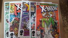 uncanny X-men Comic Lot of 72 145-313 fn-vf+ bagged boarded