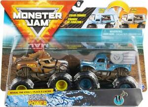 Hot-Wheels-Monster-Jam-Vagones-Color-Cambio-Caballos-de-Potencia-Y-Whiplash