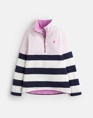 Joules Girls Half Zip Sweatshirt Fairdale French Navy Heart 3-9//10 yrs New