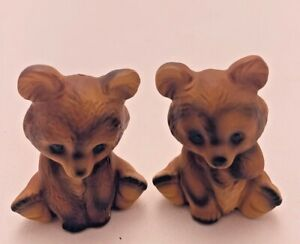 Vintage Salt and Pepper Shakers Brown Bears Japan