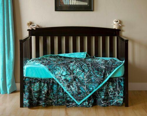 Muddy Girl Serenity Camo Crib Bedding Sheet Skirt Blanket Baby Toddler Set