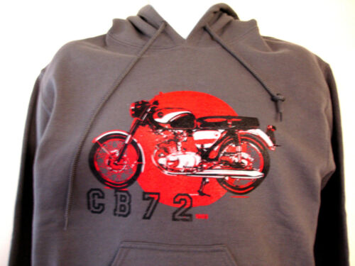 CB72 HONDA SWEAT HOODY RETRO BIKER CHARCOAL PUNK 18500 HONDA T-SHIRT AVAILABLE