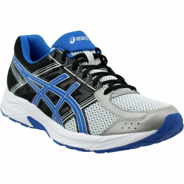 Size 12.5 D Mens ASICS GEL-Contend 4 Running Shoes Black;Blue;Silver