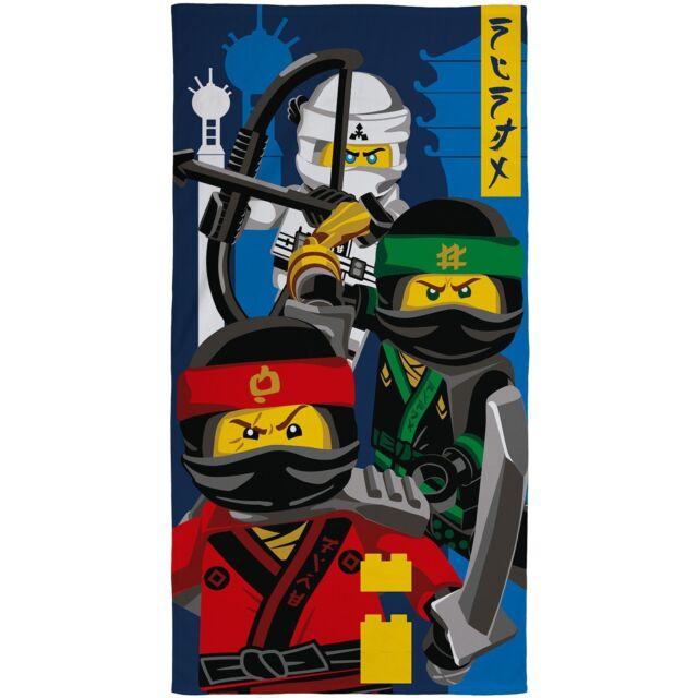 LEGO NINJAGO MOVIE Towel Kids Childrens Beach/Bath Swimming Holiday Warner Bros
