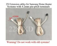 2 12ft Speaker Extension Cables/wires Made For Samsung Home Theater;4.2mm-pitch