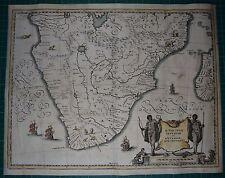 Südafrika South Africa map Karte Kupferstich von ca.1630 Aethiopia inferior