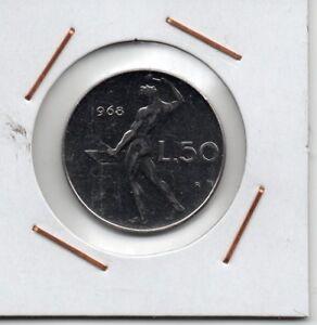 Italy : 50 Lire 1968 R UNC - España - Italy : 50 Lire 1968 R UNC - España