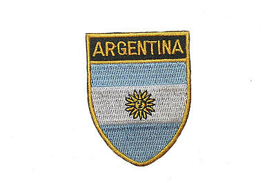 ARGENTINA Country Flag IRON-ON PATCH CREST BADGE ..SIZE 1.5 X 2.5 Inch..New