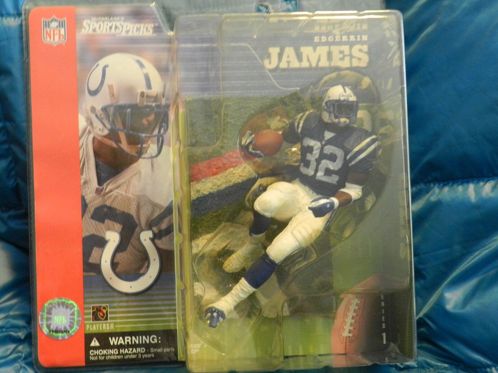 Mcfarlanes sports figure NFL series 1 Former Colts Edgerrin James blu Jersey
