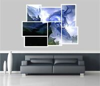 Huge Collage View Fantasy Giant Warrior Wall Stickers Wallpaper Mural 715