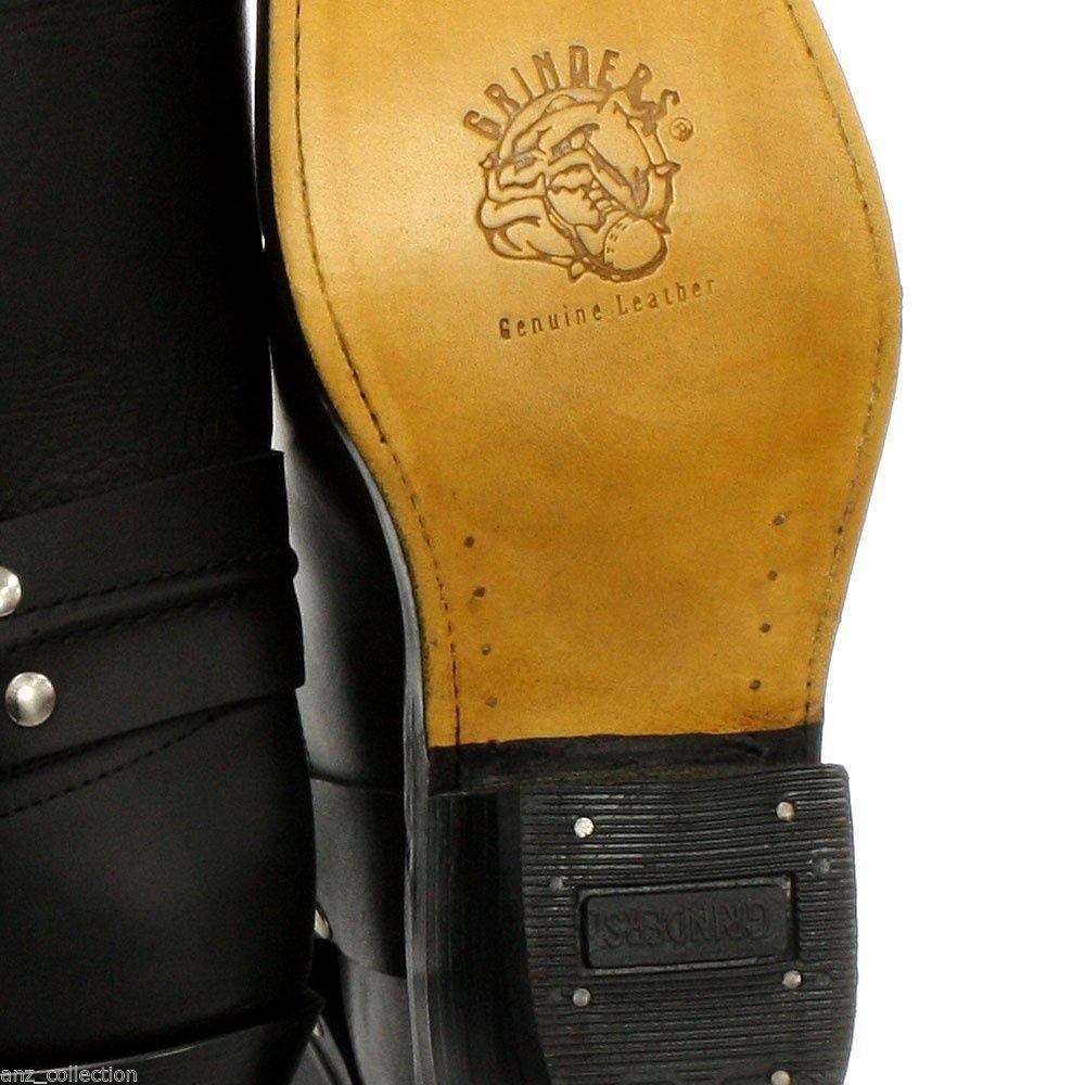 TRITATUTTO CABLAGGIO Alta Nero Nero Nero Uomo Donna Cowboy Western Alti Biker Stivali in pelle 15e7b2