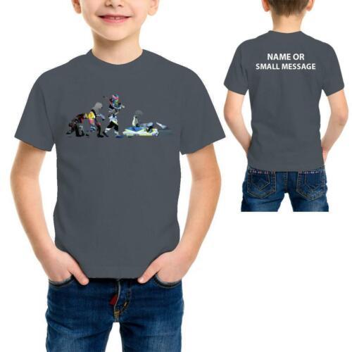 Evolution of Karting Personalised Kids T-Shirt Funny Gift Ape to Man Go Kart Rac