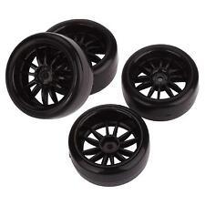 4pcs 12mm Hub Wheel Rims & Smooth Tires for RC 1/10 Racing Drift Sport Car F036