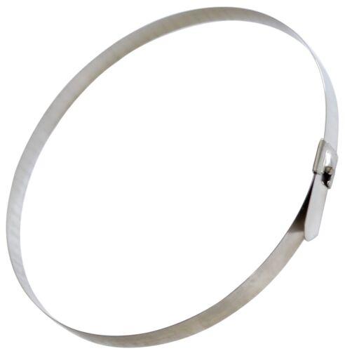 7.9mm x 520mm 52cm 10 colliers de serrage en métal inox acier inoxydable