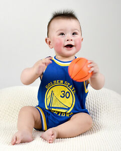low priced df364 d1bee Details about Baby Infant NBA Romper Jumpsuit Jersey Golden State Warrior  #30 Stephen Curry