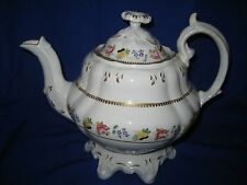 Antique Rockingham ? / Adams & Cooper ?  Porcelain Large  Teapot