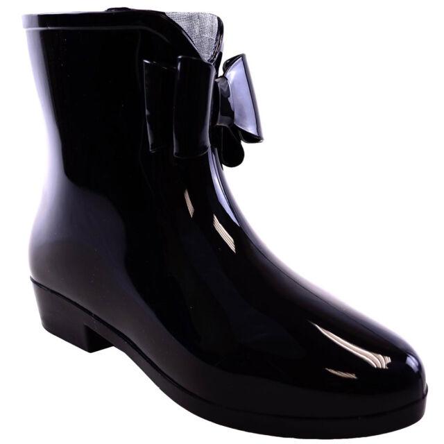Women Low Festival Summer Winter Wellies Wellington Ankle Boot Shoe Size