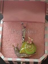 BRAND NEW! JUICY COUTURE PAVE SNAIL BRACELET CHARM IN TAGGED BOX