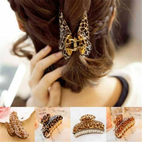Clamp O1E3 3Sizes Womens Girls Leopard Hair Clip Claw Hair Accessory Headpiece
